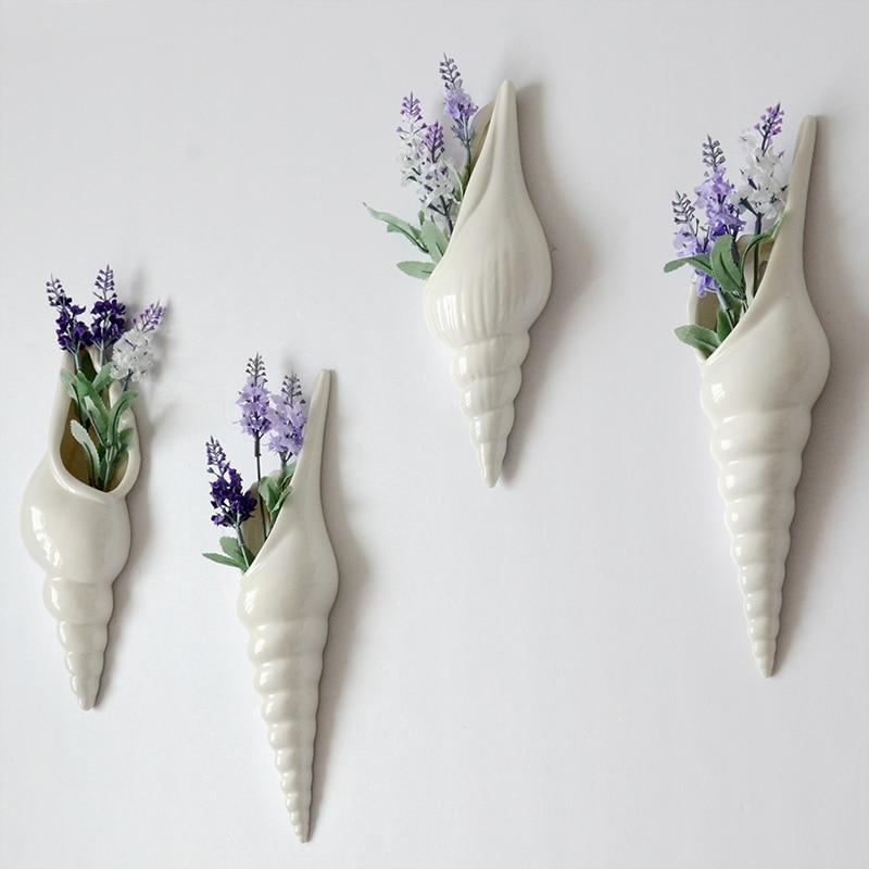 Vazo dekorative mur varur vazo dekorative të pastra lule të bardha - Dekor në shtëpi - Foto 3