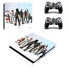New PS4 Slim Skin Sticker Decal For Sony PlayStation 4 Console and 2 Controllers for DualShock 4 PS4 Slim Skins Stickers Vinyl