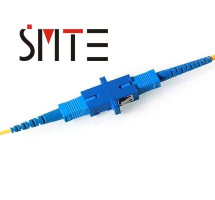 Купить с кэшбэком 50pcs/lot SC/UPC fiber optic adapter single mode SC UPC connector optical fiber adaptor 1200nm to 1600nm