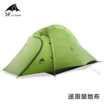 3F Zhengtu2 super lumière double couche 2 personne 210 T 3 saison camping tente