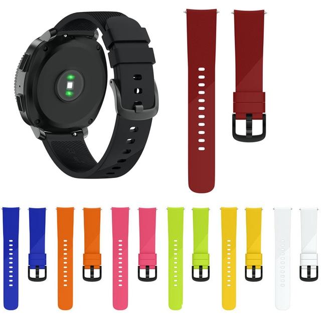 JKER 20 MM רצועת השעון רצועת עבור Garmin Vivoactive 3/Garmin 645/Huami נוער/Samsung ציוד ספורט סיליקון גומי להקת יד רצועה