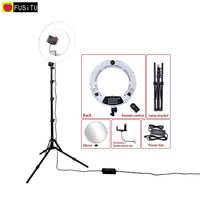 Fusitu White FE 480II 5500K Dimmable Camera Photo Studio Phone Video 18 96W 480 LED Ring