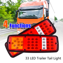 2x светодио дный тормозной задний хвост индикатор заднего хода 12 В прицеп грузовика RV караван