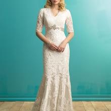 cecelle Mermaid Lace Wedding Dresses boho Wedding Dress