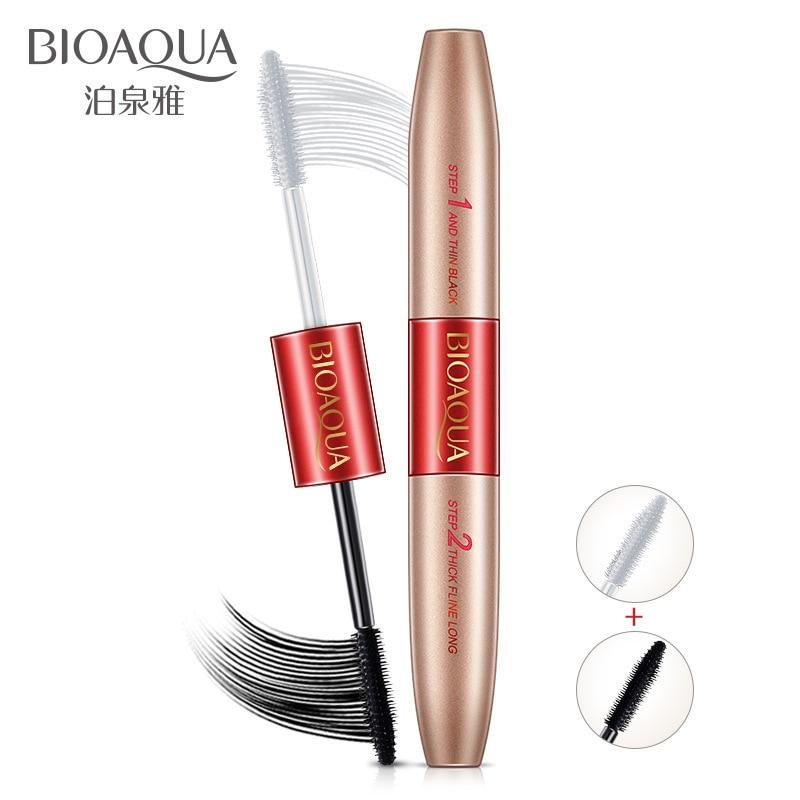 BIOAQUA Fashion Double Head Mascara Waterproof Long Lasting Lengthening Curling Thick Eye Eyelashe Makeup Women Beauty Essential