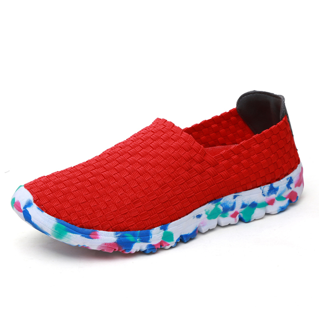 Women Casual Shoes 2019 Summer Handmade Woven Shoes Best Quality Breathable Fashion Comfortable Women Flats Shoes Female Loafers