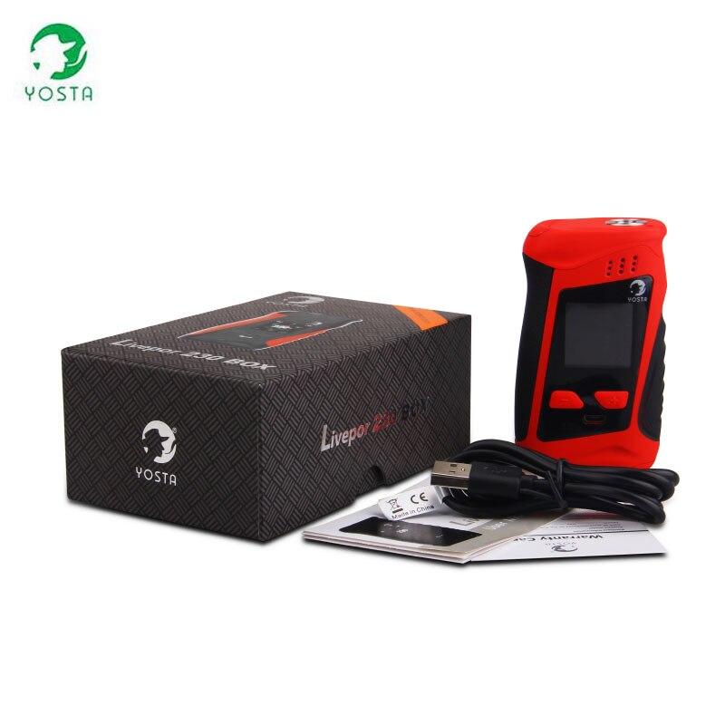 Yosta Livepor 230 W TC Box Mod ECIG VAPE vaporisateur de cigarettes mod ultra léger alimenté par 18650 batterie