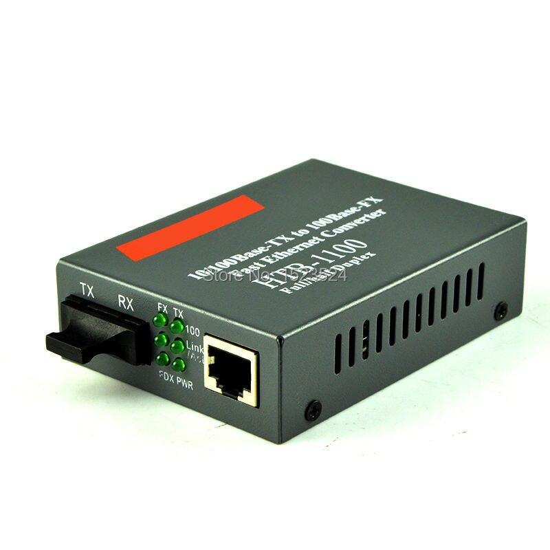 bilder für Freies Verschiffen HTB-1100 Optischen Medienkonverter 10/100 Mbps RJ45 Multimode Duplex Fiber SC port Converter 2 KM