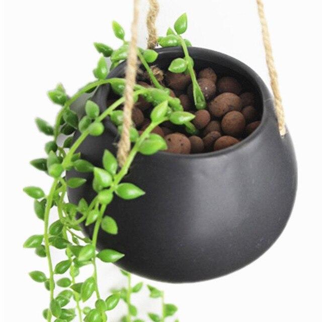 Moyishi mini cerámica decorativa maceta colgante agua maceta planta ...