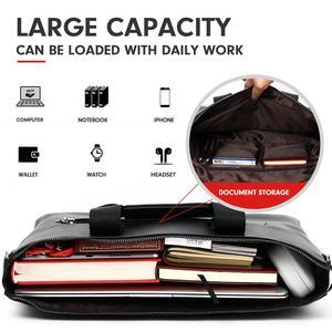 Image 4 - VICUNA POLO Casual Business Man Zak Eenvoudig Ontwerp Solid Lederen Aktetas Tassen Voor Mannen Laptop Schoudertassen Heren Handtas