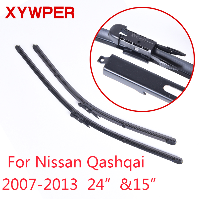 XYWPER Wiper Blades forNissan Qashqai2007 2008 2009 2010 2011 2012 2013 24&15Car Accessories Soft Rubber Car Windscreen Wipers