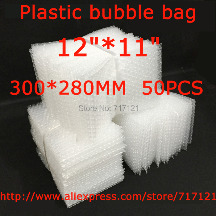 LOW BULK PRICE 50 pcs white Anti Static Bubble Envelopes Wrap Bags 12 x 11_300 x 280mm FREE SHIPPING