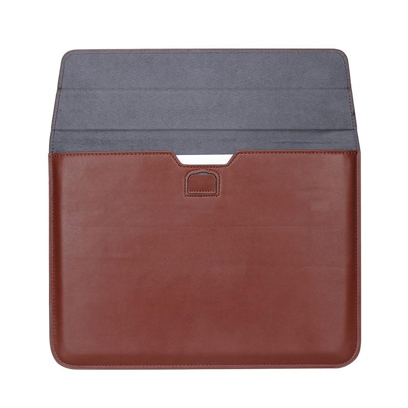 """Universal <font><b>Laptop</b></font> Sleeve <font><b>Case</b></font> <font><b>For</b></font> Pro 15"""" inch Leather Notebook <font><b>Folio</b></font> <font><b>Case</b></font> Stand"""