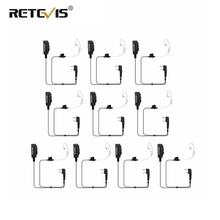 10pcs Big Size PTT 2Pin Mic Earpiece For Kenwood Retevis H777 RT5R RT5 RT7 RT22 For Baofeng UV 5R BF 888S for TYT Walkie Talkie