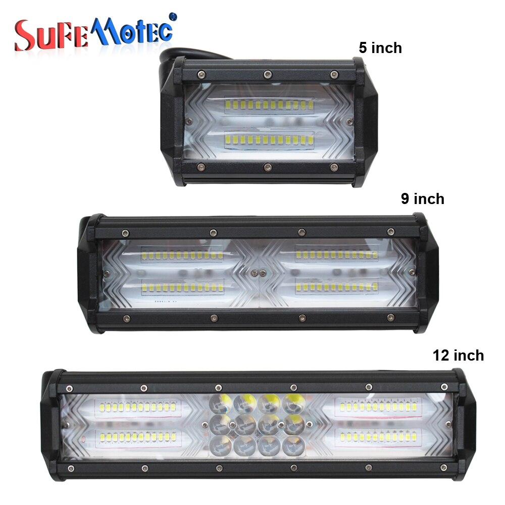 5 Inch 12 inch 72W 144W 180W LED Work Light Bar Light For 4X4 Offorad Trucks Tractor SUV ATV 4WD Boat Emergency Fog Lamp 12V 24V