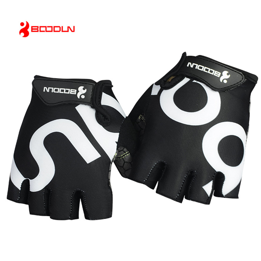 BOODUN New Mens/Womens Bike Gloves Half Finger Sports Cycling Gloves Gel Pad Breathable MTB Road Bicycle guantes ciclismo luvas