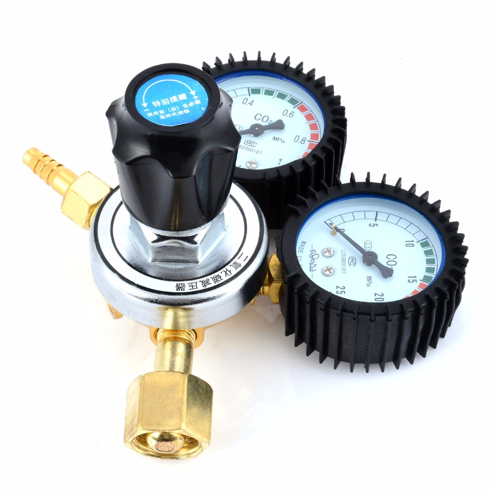 1pc High Pressure CO2 Gas Pressure Reducing Regulators Valve Mayitr Durable Flow Meter 236 MPa For MIG Welding Beer Brew steve j