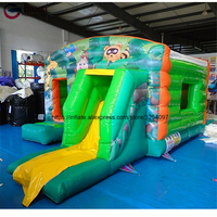 Small inflatable fun city for backyard for kids colorful jumping bouncer castle indoor toys inflatable bouncing castle for sale