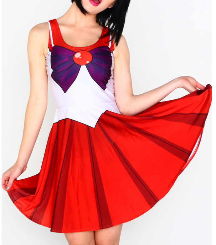 New Cute  Anime Sailor Moon Cosplay Sexy Costume Halloween Costumes Women Fantasia Lolita Costumes Dresses