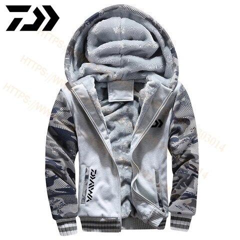 quente jaqueta masculino roupas de pesca com capuz