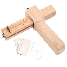 Professional Wood Adjustable Strip and Strap Cutter Craft Tool Leather Hand Cutting Tools DIY