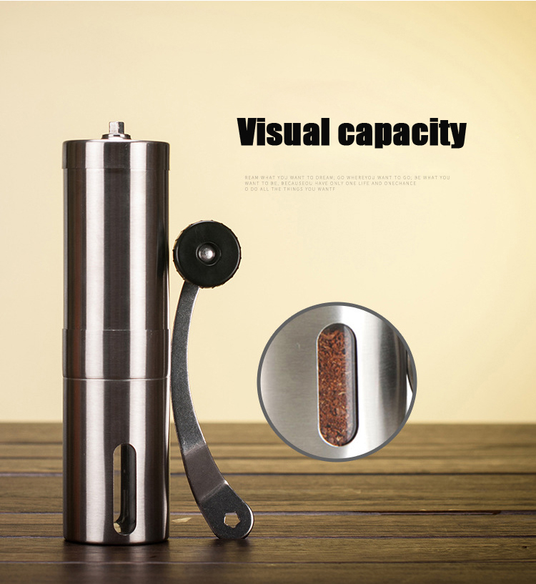 Mini Home Office Traveling Stainless Steel Hand Manual Coffee Bean Grinder Grinding Hand Mill Cafe Burr Mill Kitchen Tool hand coffee grinder 160ml portable manual handcrank coffee bean spice mill kitchen tool coffee stainless steel abs glass