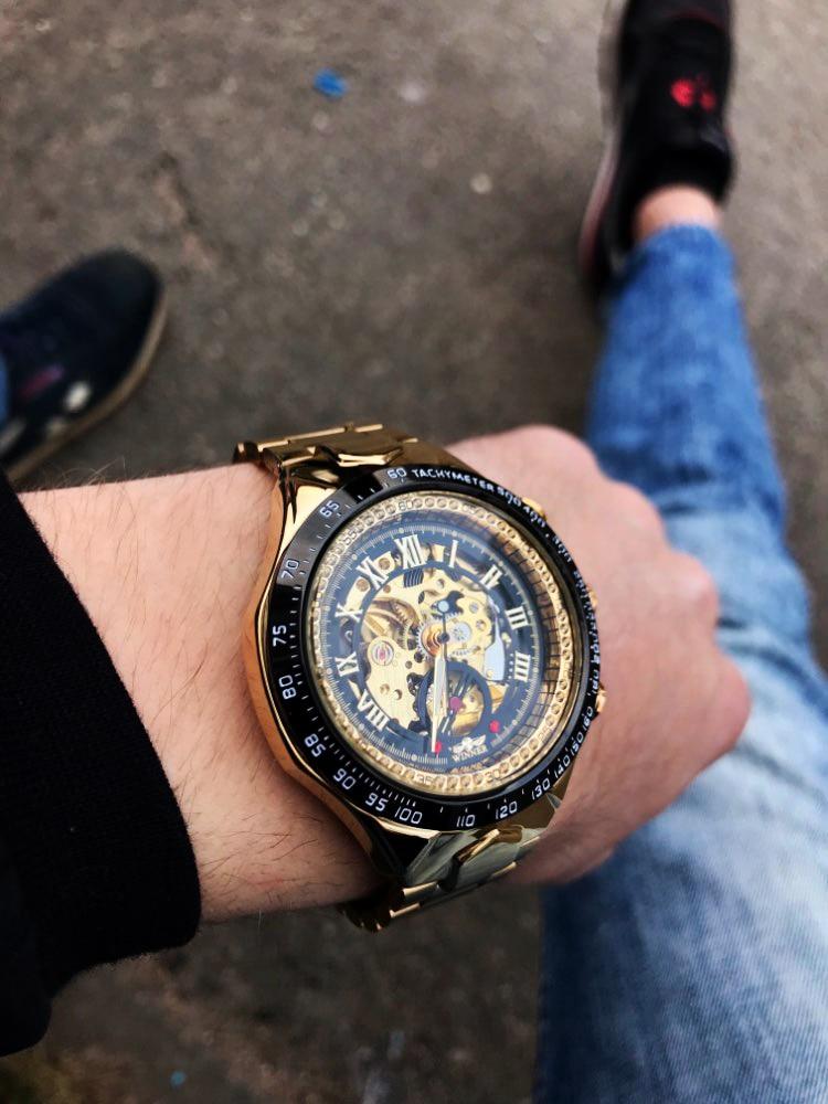 3Montre Homme horloge automatique squelette