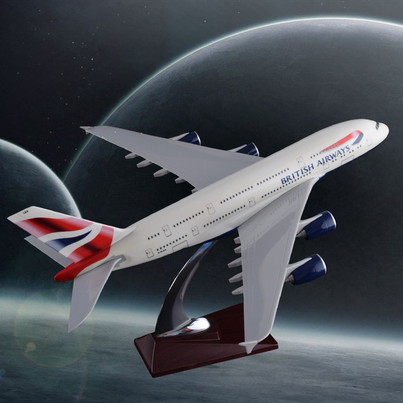 36cm Resin A380 Great British Airplane Model England Airlines Airways Model Plane Aircraft Stand Craft British Model Collection