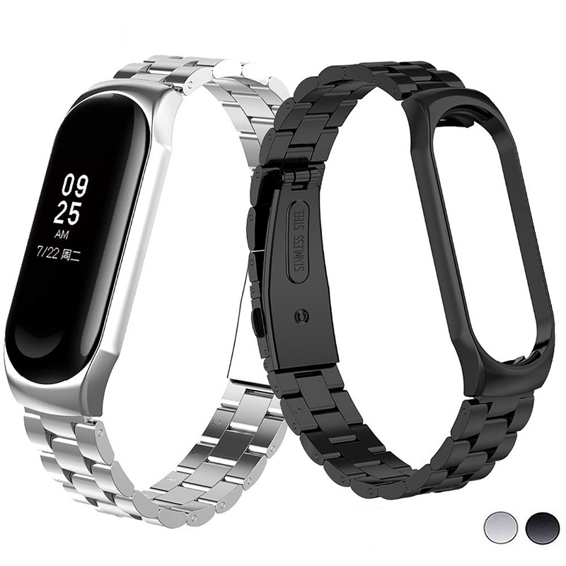 Stainless Steel Metal Strap For Xiaomi Mi Band 4 Bracelet Mi Band4 Wrist Strap For Mi Band 4 Accessories Miband4 Wristband