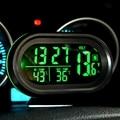 Bateria de Carro Voltímetro Digital Auto Car Termômetro Voltage Meter Monitor Tester 12 V/24 V Relógio Noctilucous Congelar Alerta