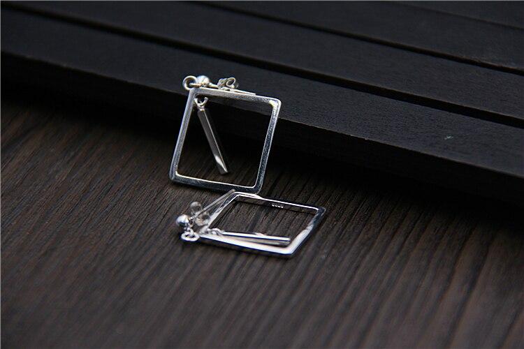 C & R Real 925 pendientes de plata esterlina para mujer cuadrado - Joyas - foto 6