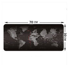 Large Size 700*300*3MM World Map Speed Game Mouse Pad Mat Laptop Gaming Mousepad Quick custom 3D printing rubber Document Trays