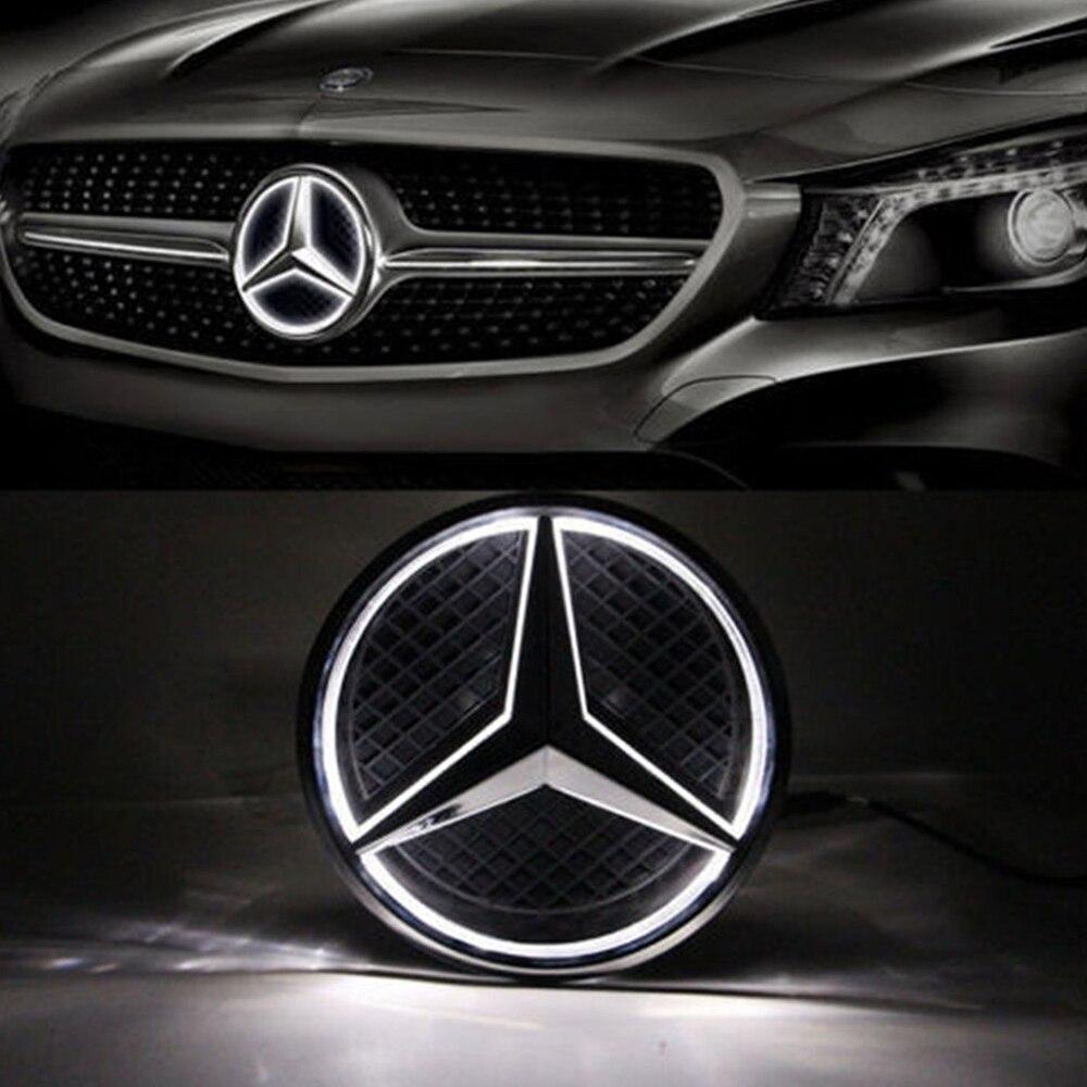 Lonleap Car Emblem LED Light Front Grille Star Emblem Badge for Mercedes Benz 2011-2016 Car Styling new auto car super bee for charger srt8 front grill grille emblem badge 02