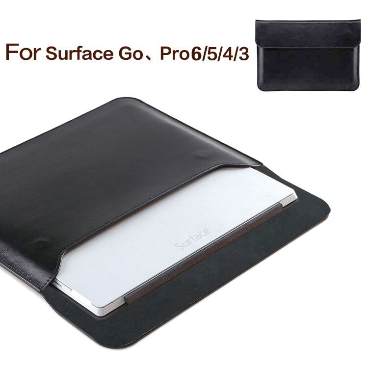 PU Leather Laptop Bag for Microsoft Surface Go Pro 6/5/4/3 Luxury Brand Laptop Sleeve for Surface 3 4 5 6 Case Notebook Coque