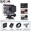 Giroscópio sjcam sj6 lenda 4 k wifi tela sensível ao toque relógio à prova d' água ação esporte camera + bateria extra + remoto + carregador + microfone estendido