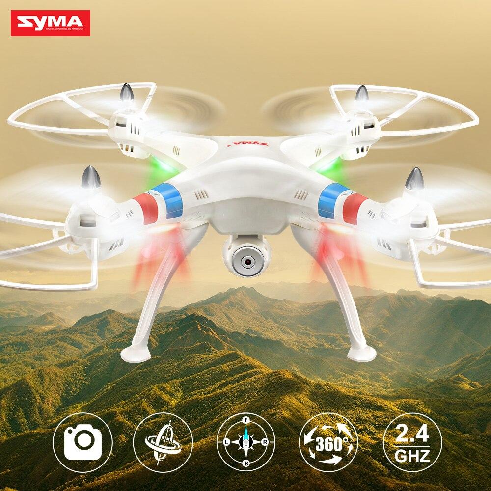 Original Syma X8C 4CH 2.4G RC Drone professionnel RC Quadrocopter avec 2MP HD caméra clignotant lumière RC hélicoptère jouets cadeau
