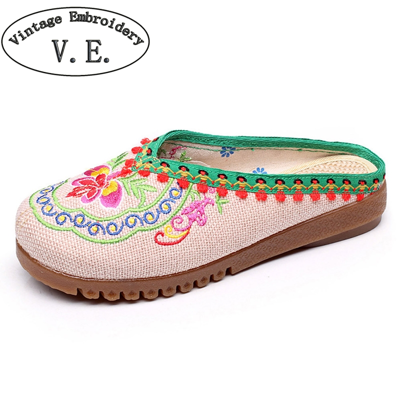 Women Slippers Summer Shoes Nepal Islamic Embroidered National Boho Chinese Flower Sandals Shoes For Women Funny Slippers mnixuan women slippers sandals summer