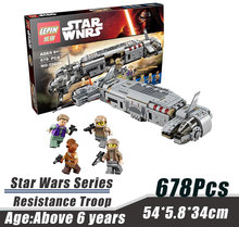 LEPIN 05010 Star Wars Series Resistance Troop Transporter Bricks Building Block Minifigue Toys Kid Gift Compatible Legoe