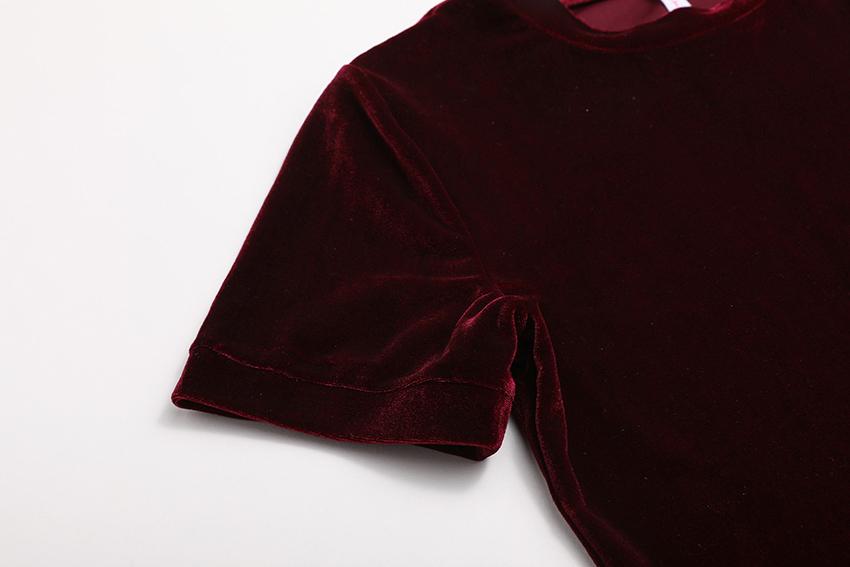 HTB15vwHRXXXXXXeXVXXq6xXFXXXr - Summer Tops Short Sleeve Cotton Velvet T Shirt Women