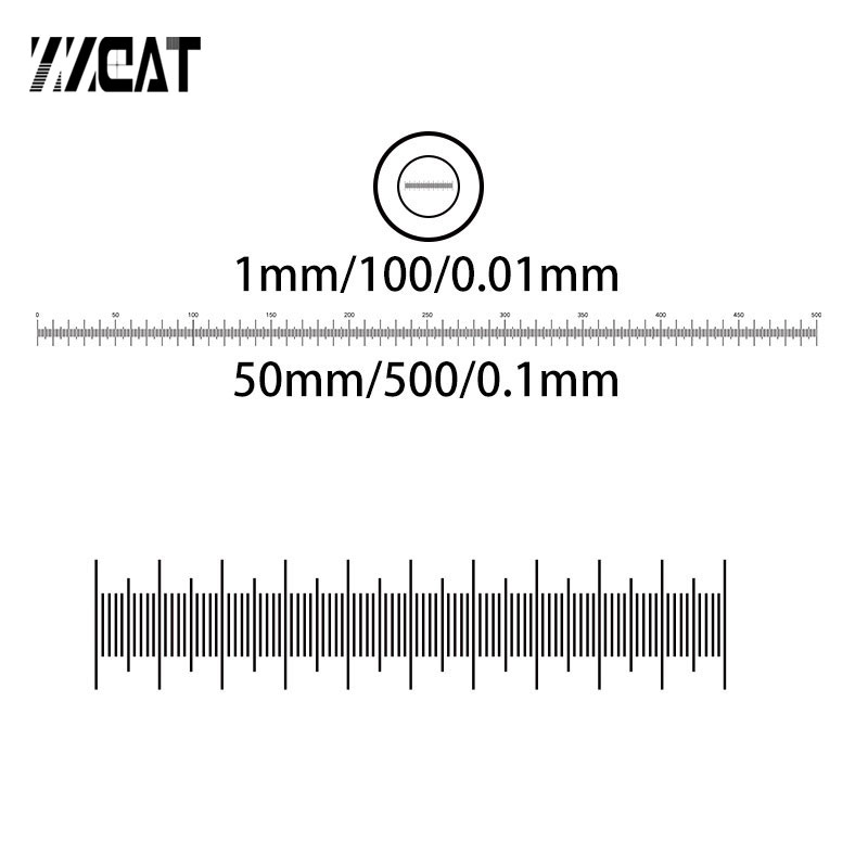 950 T DIV 0 1mm 0 01mm Optical Glass Stage Calibration Measuring Scale Microscope Accessories Glass