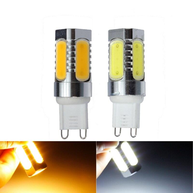 Лучшая цена удара светодиодные лампы <font><b>G9</b></font> 4 Вт холодный белый теплый белый Алюминий яркая светодиодная лампа 220 В 450LM заменить галогенные лампы