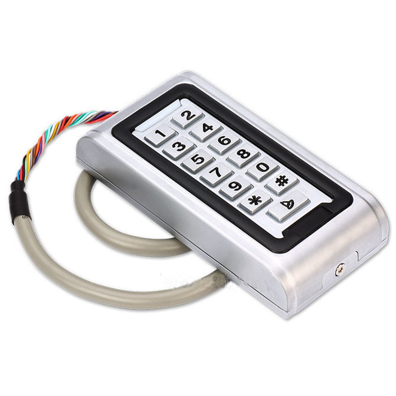 FREE SHIPPING  Waterproof IP68 Metal Case RFID ID Keypad Single Door Stand-alone Access Control & Wiegand 26 bit I/O