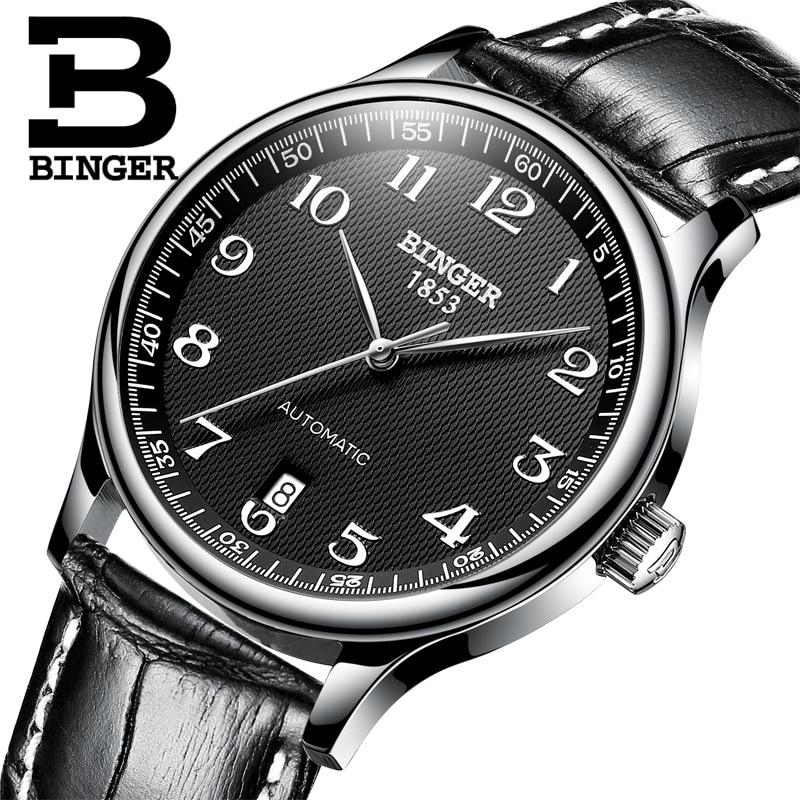 BINGER Brand Luxury Automatic Mechanical Men Watch Sapphire Watches Male Military Relogio Waterproof Men s Watches