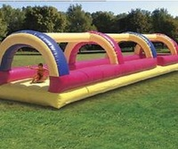 Лидер продаж запустить надувной игры/надувные запустить банджи оборудование/надувные взлетно посадочной полосы