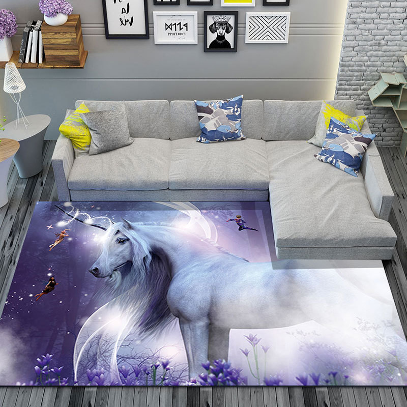 3D Starry sky Unicorn Carpets for Living Room Bedroom Area Rugs Kids Game Crawl Carpet Child Room Bedside blanket Baby Play Mats Carpet     - title=