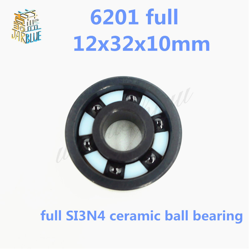 Free shipping 6201 full SI3N4 ceramic deep groove ball bearing 12x32x10mm P5 ABEC5 free shipping 6806 full si3n4 p5 abec5 ceramic deep groove ball bearing 30x42x7mm 61806 full complement