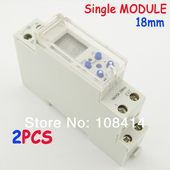 18mm Width Weekly Programmable Digital Time Switch 220V Timer Relay Control DIN Rail Mount, FREE SHIPPING electronic light switch weekly programmable timer digital switch relay timer controller for controlling road lamp neon light