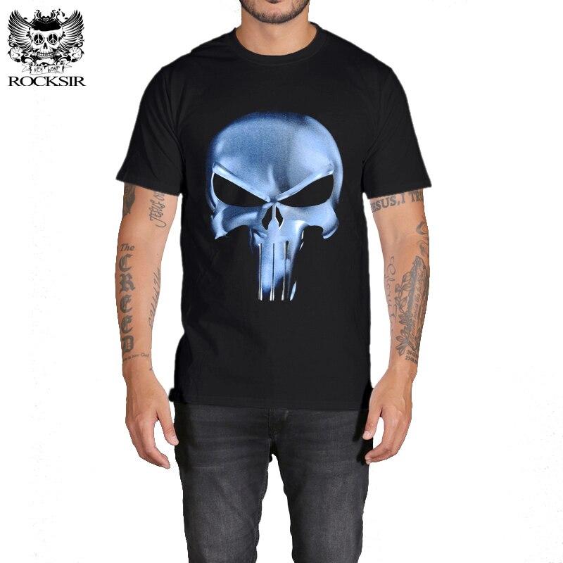 Rocksir punisher t-skjorter for menn t-skjorte Bomullsmote merke - Herreklær - Bilde 3