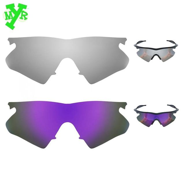 1b49f02b6e Mry plata titanio y Plasma púrpura 2 par polarizadas lentes de reemplazo  para OAKLEY gafas de