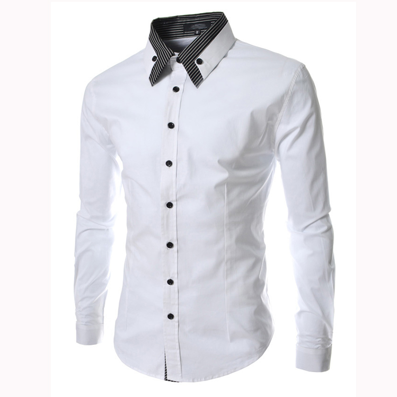 Aliexpress.com : Buy Black White suit shirt work shirt Striped ...